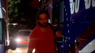 London Shahid Afridi along from hotel to coach Mohamad Asif along to coach Coach driven away