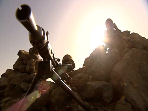 Pakistani armed forces on patrol following fierce fighting with Taliban forces Pakistan 17 November 2009