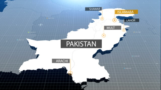 Pakistani  map with label then with out label