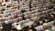 Pakistani Muslims offer Friday prayer at Faizan e Madina a Global Islamic Center at Main University Road in Karachi Pakistan