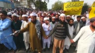 Pakistani supporters of Mumtaz Qadri stage a protest against his execution in Islamabad Pakistan on March 04 2016 On Monday Pakistan hanged the...
