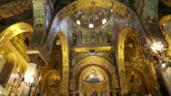 Palace of the Normans (Palazzo dei Normanni), Palatine chapel, interior views, magnificent mosaics decorations, Palermo, Sicily