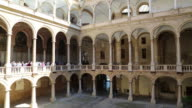 Palace of the Normans (Palazzo dei Normanni), view of the delightful Maqueda courtyard, Palermo, Sicily