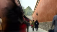 TL: Palace wall in forbidden city