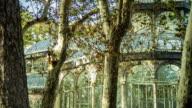 Palacio de Cristal Through the Trees - Timelapse