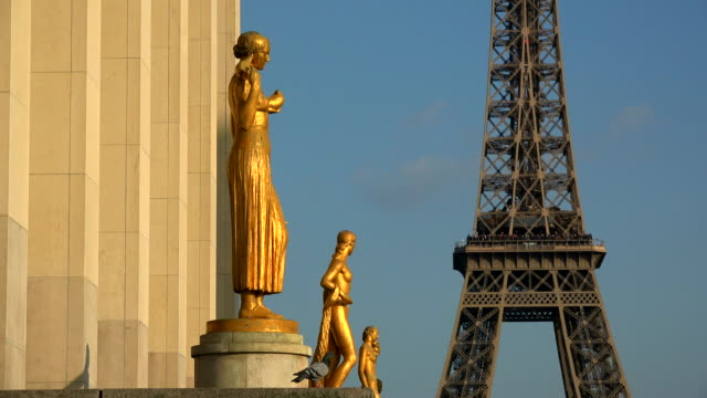 Palais de Chaillot and Tour Eiffel, Paris, Ile de France, France