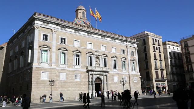 Palau de la Generalitat de Catalunya, view of the façade, Barcelona, Spain