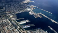 Palermo Docks  - Aerial View - Sicily, Italy
