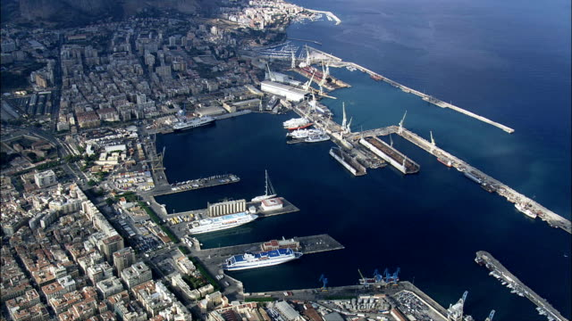 Palermo Docks  - Aerial View - Sicily, Italy