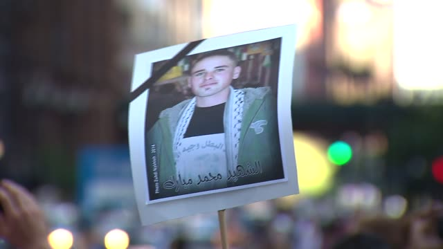 Palestine supporters rallied in front of the Israeli Consulate then marched to Federal Plaza to demand an end to the ongoing violent attacks on Gaza...