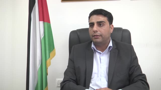 Palestinian Government spokesperson Tariq Rishmawi speaks at an exclusive interview in Ramallah West Bank on September 28 2017