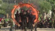 Palestinian Islamist movement Hamas held a closing ceremony for hundreds of students attending their controversial summer schools Friday