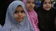 Palestinian Muslims pray to mark the first day of Eid alAdha in Gaza City on September 1 2017 Muslims around the world celebrate Eid alAdha by...