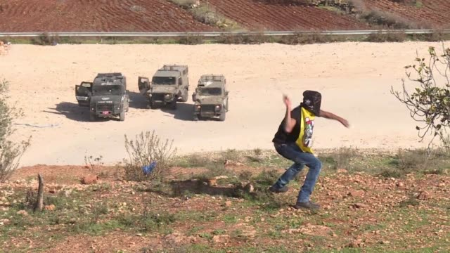 Palestinian protesters gathered on Friday on the road leading to the Israeli Ofer military prison a flashpoint in the long running conflict between...
