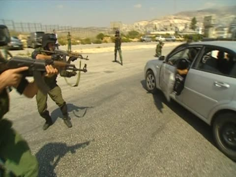 Palestinian Security Forces practice drill