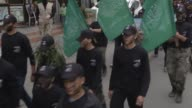 Palestinian teenagers in military camp of Izz adDin alQassam Brigadesthe armed wing of Hamas organize a military parade from AlShati refugee camp to...
