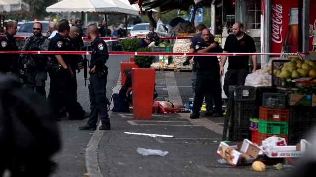 A Palestinian wounded two Israelis in a new stabbing in Jerusalem before being shot dead by police Saturday medics said the latest in a wave of...
