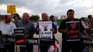 Palestinians and Arab Israelis protested on Tuesday outside the Ashkelon hospital in Israel against administrative detention and in support of...