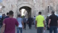 Palestinians entered the Haram al Sharif compound a sensitive Jerusalem holy site known to Jews as the Temple Mount for afternoon prayers on Friday...