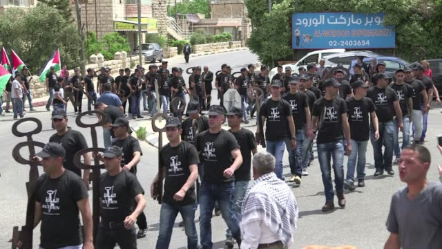 Palestinians gathered on Wednesday in Ramallah to commemorate the 67th anniversary of the Nakba which means catastrophe in Arabic and refers to the...