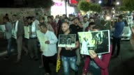 Palestinians march in protest against new Israeli security measures at AlAqsa mosque on July 17 2017 in Ramallah West Bank Israel closed the holy...