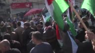 Palestinians take to the streets after Hamas official Mazen Faqha was assassinated late Friday in the Israeliblockaded Gaza Strip on MArch 26 2017 in...