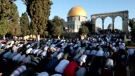 Palestinians were praying outside Al Aqsa Mosque in Jerusalem on Friday to mark Eid al Adha celebrated throughout the Muslim world as a commemoration...