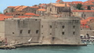 MS Palm St John's Fortress/ ZO WS Boats entering marina/ Dubrovnik, Dalmatia