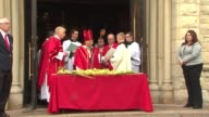 Palm Sunday At Holy Name Cathedral lead by ailing Cardinal Francis George on April 13 2014 in Chicago Illinois