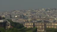 Pan across Paris skyline