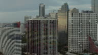 Pan Across Skyscrapers In Miami Florida