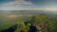 Pan across the beautiful Blue Mountains in New South Wales.