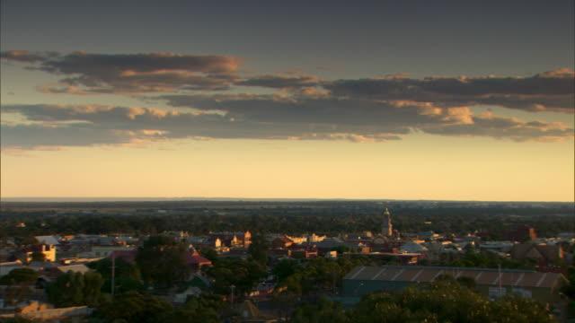 Pan across the city of Kalgoorlie in Western Australia.