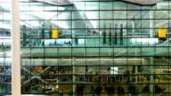 pan camera London Departure & arrival, movement of passengers at airport
