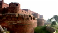 Pan left over Agra Fort, Agra