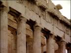 Pan left over Parthenon Athens