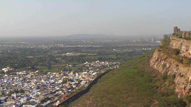 Pan Left Reveal Shot City Chittorgarh Rajasthan India