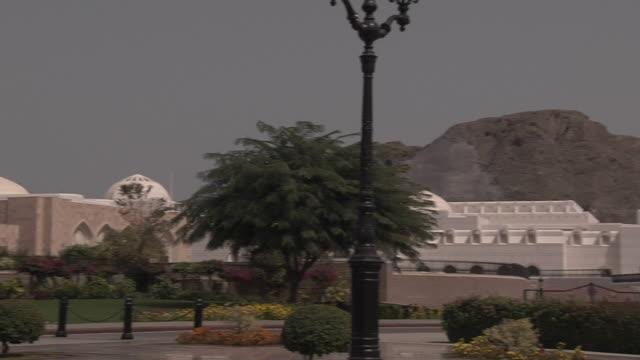 Pan Left Shot Al Alam Palace Muscat Oman