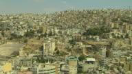 Pan Left Shot Amman City Amman Governorate Jordan