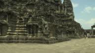 Pan Left Shot Angkor Wat Architecture Siem Reap Cambodia