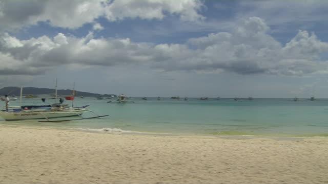 Pan Left Shot Beach Boracay Philippines
