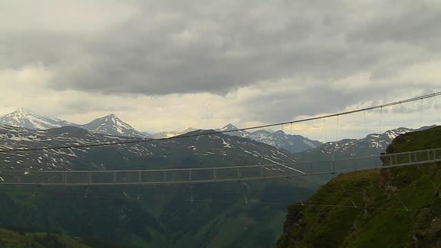 Pan Left Shot Gastein Valley Salzburg Austria
