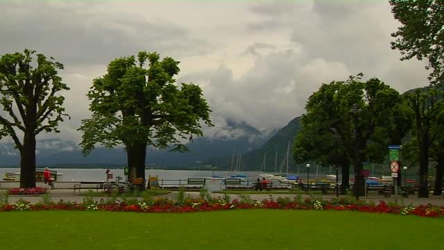 Pan Left Shot Lake Salzburg Austria