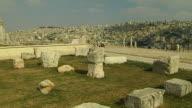 Pan Left Shot Temple of Hercules Amman Jordan