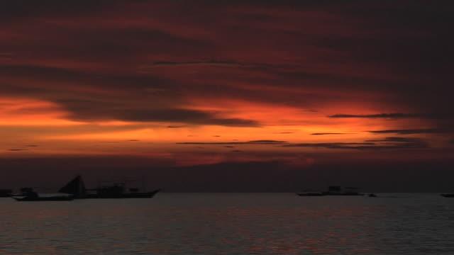 Pan Left Sunset Boracay Aklan Philippines