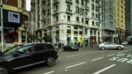 T/L 360 Pan of Gran Via at Callao, Madrid