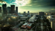 Pan Over Downtown Los Angeles Civic Center - Time Lapse