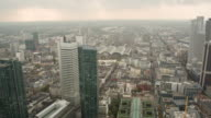 Pan over Frankfurt, view from main Tower