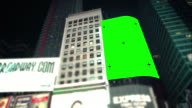 Pan over Green screen Chroma Key New York City