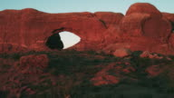 Pan right, arches in Utah national park